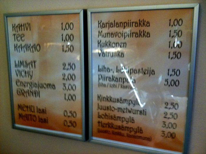 Huvilan Kahvila's prices are quite reasonable. No G-signs but yes, everything are gluten-free. If you don't believe, just ask