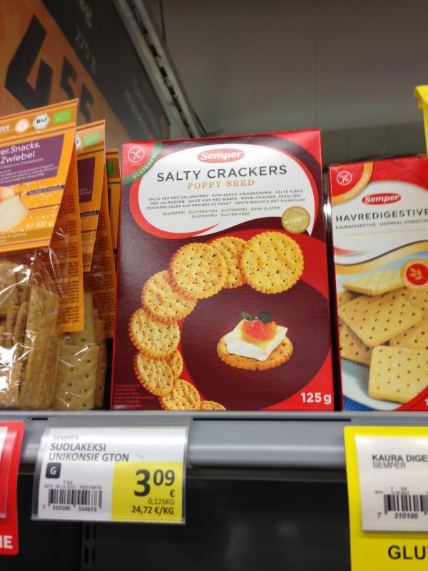 Semper Salty Crackers Poppy Seed 125 g