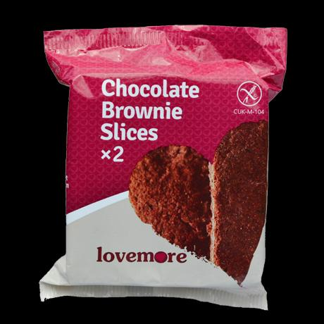 Welsh Hills Bakery Lovemore Chocolate Brownie Slices x2, 52 g