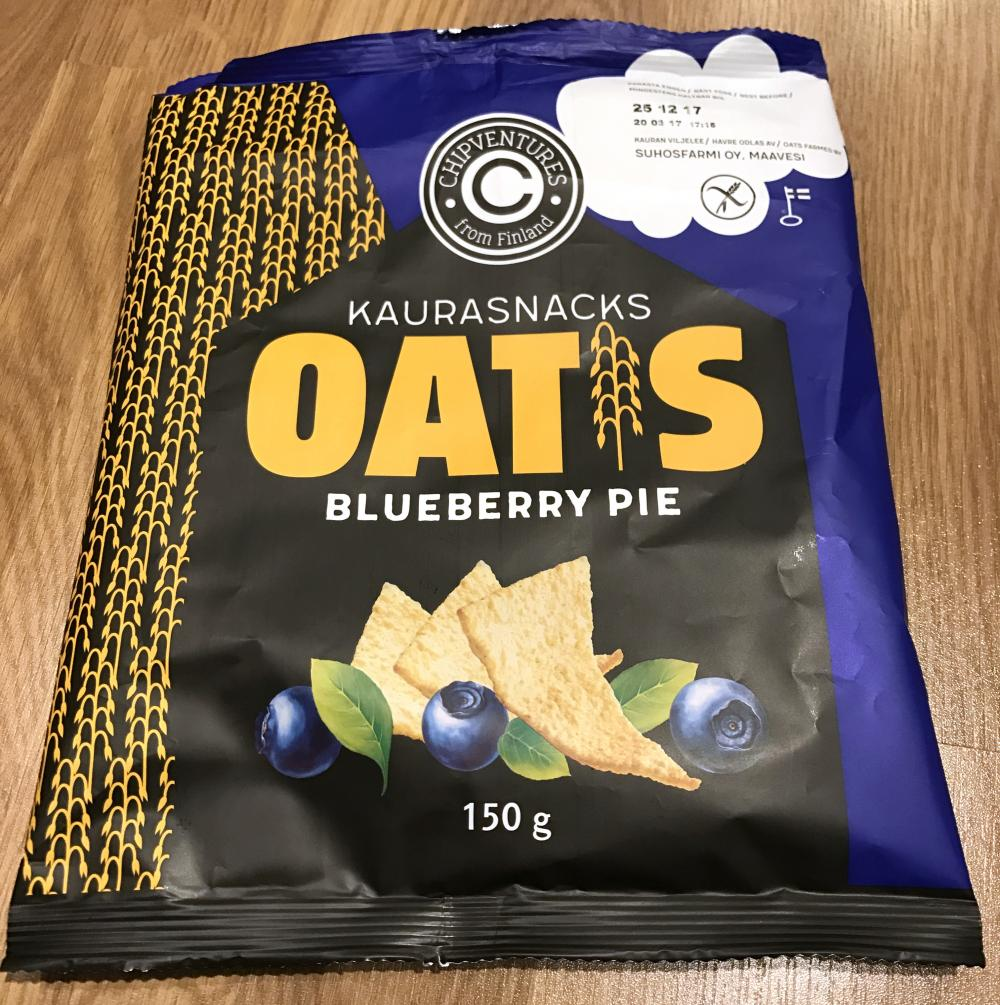 Real Snacks Oatis Blueberry pie kaurasnacks 150 g