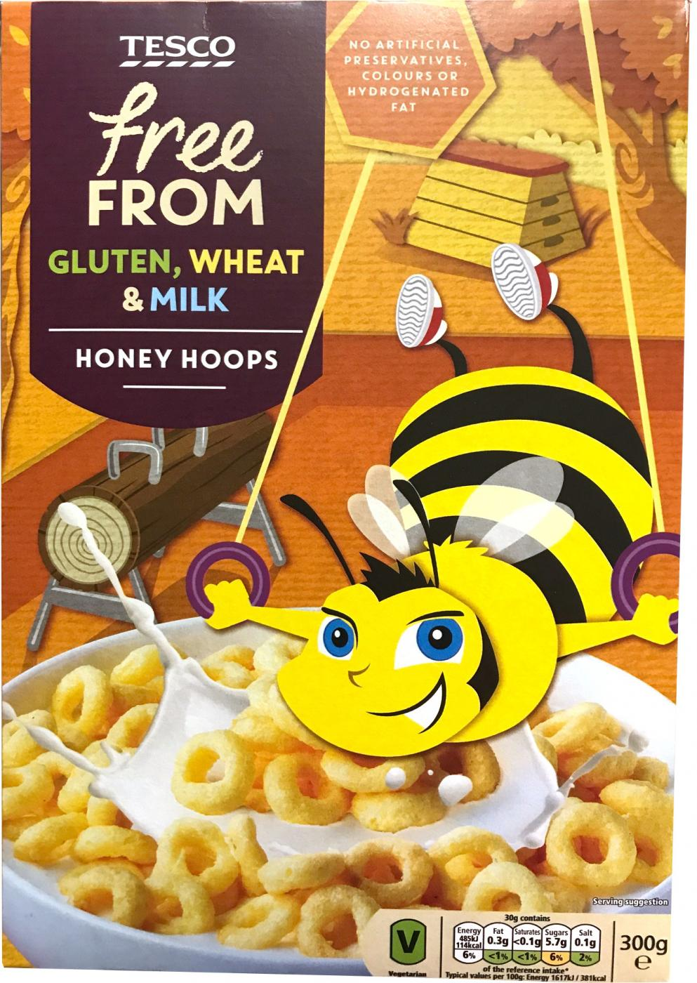 Tesco Free From Honey Hoops 300 g