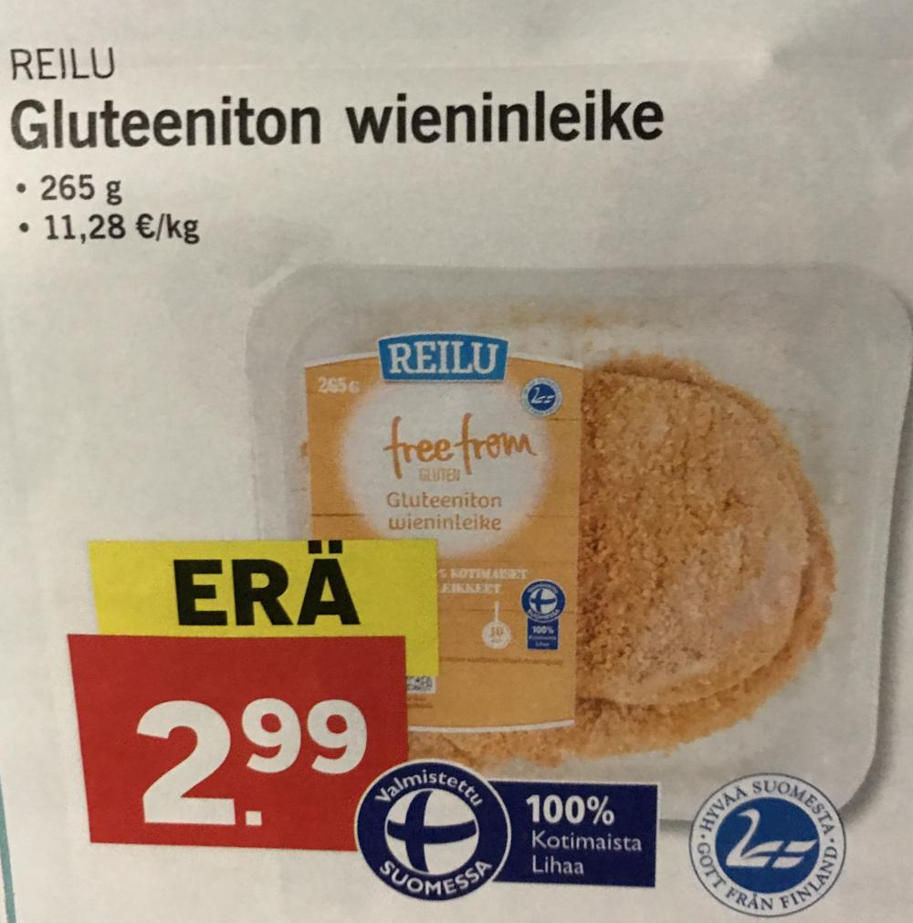 Lidl Free From gluteeniton wieninleike 265 g