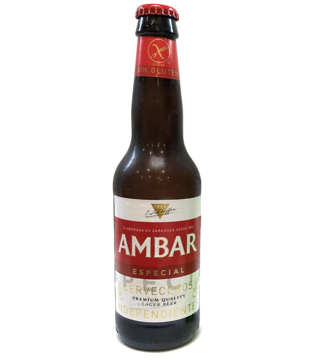 Ambar Especial Lager Gluten Free 5.2% 33cl